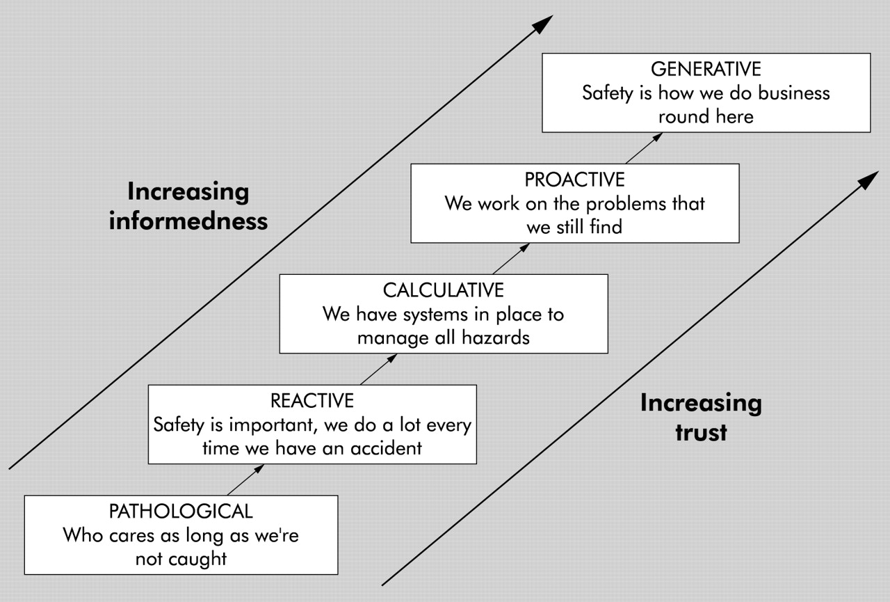 evolution of safety culture management essay The risk management culture supports the overall vision, mission and objectives of an  sometimes risk management and safety management are seen as the same type of.