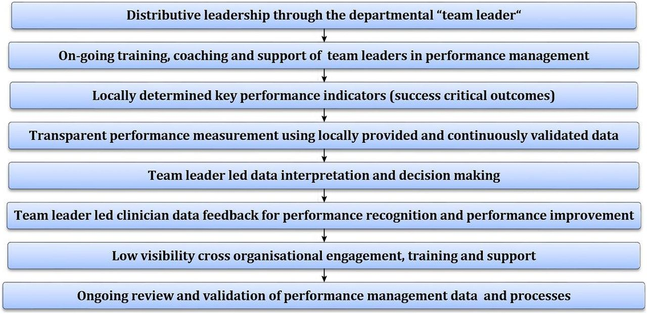 clinically led performance management in secondary healthcare figure