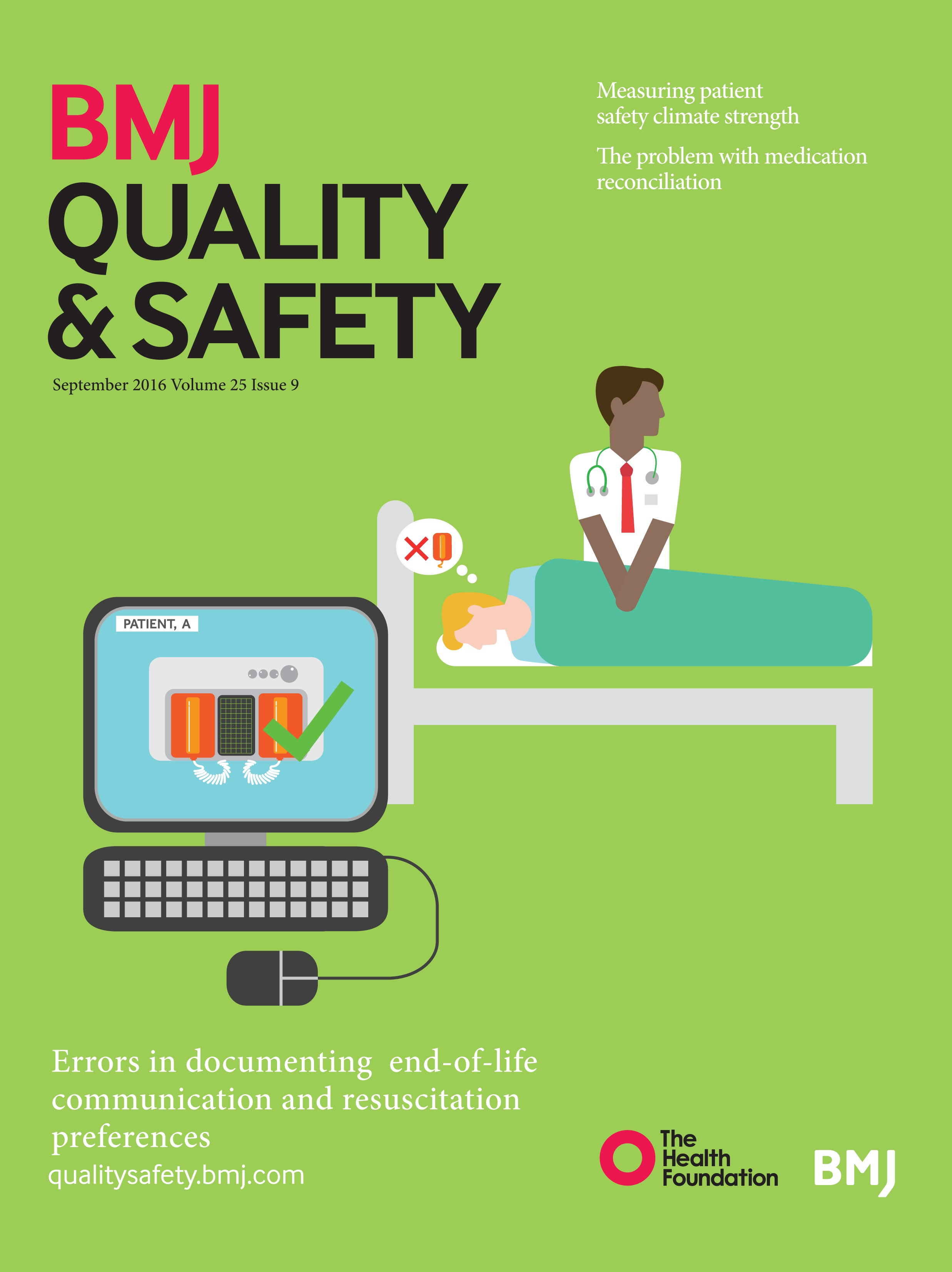 Patient safety climate strength: a concept that requires more attention |  BMJ Quality & Safety