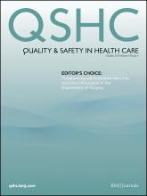 Quality and Safety in Health Care: 19 (5)