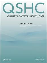 Quality and Safety in Health Care: 19 (6)