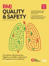 BMJ Quality & Safety: 24 (12)