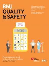 BMJ Quality & Safety: 24 (6)