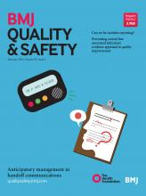 BMJ Quality & Safety: 25 (2)
