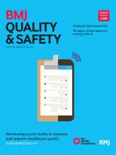 BMJ Quality & Safety: 25 (6)